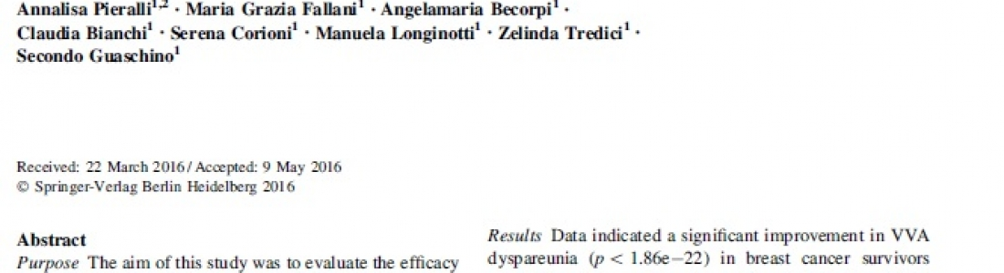 Another Scientific Publication for MonaLisa Touch!