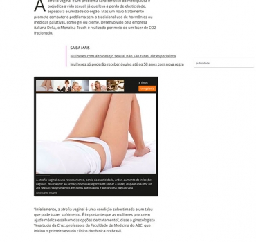 Chega ao Brasil tratamento a laser que combate atrofia vaginal da menopausa