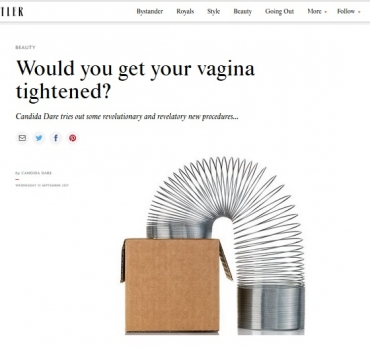 Tatler: Would you get your vagina tightened?