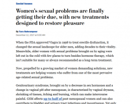 The Washington Post – Women's sexual problems are finally getting their due